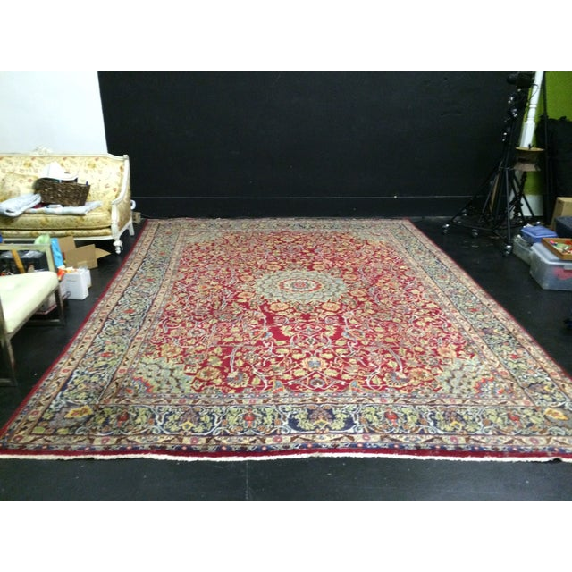 Large Traditional Persian Rug - 12′4″ × 9′6″ - Image 11 of 11