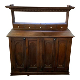 19th Century Walnut and Pine Hutch For Sale
