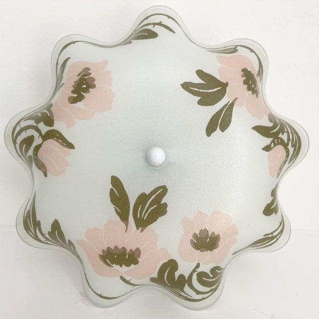 Mid-Century Modern Ruffled Floral Flush Light For Sale - Image 3 of 7