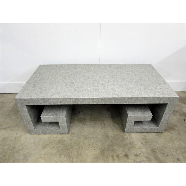 Jansen Manner Handcrafted High End Coffee Table with Greek Key Base For Sale - Image 9 of 10