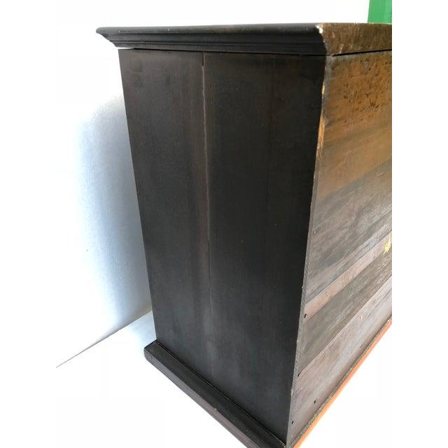 Antique Solid Wood Desk For Sale - Image 6 of 11