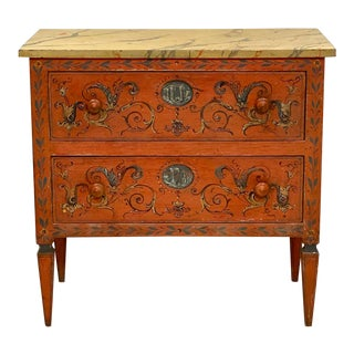 19th Century Painted Chest of Drawers, Italy For Sale