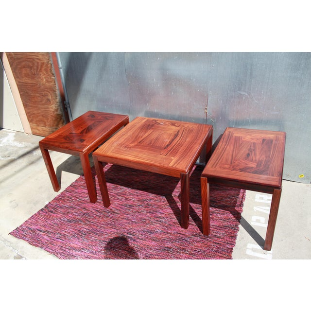 1960s Danish Rosewood Coffee & End Tables - Set of 3 - Image 2 of 10