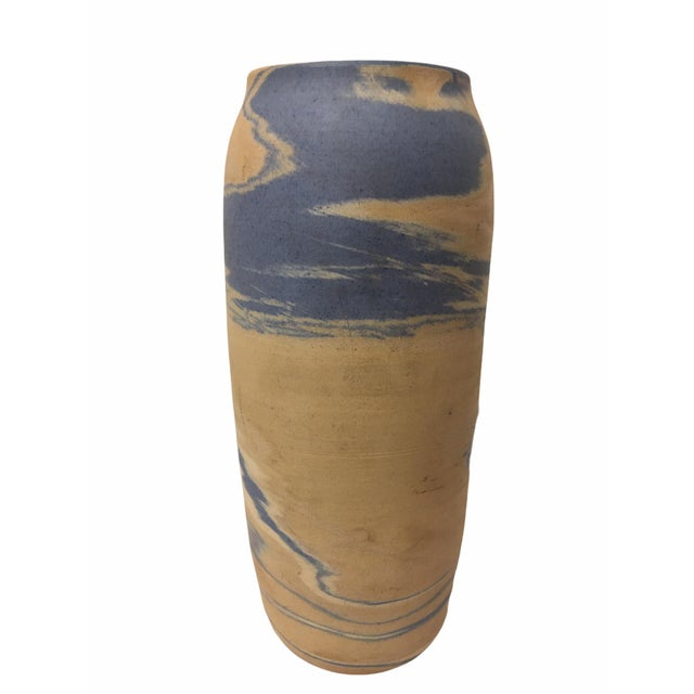 Antique Early 20th Century Niloak Pottery Mission Swirl Vase For Sale - Image 4 of 7