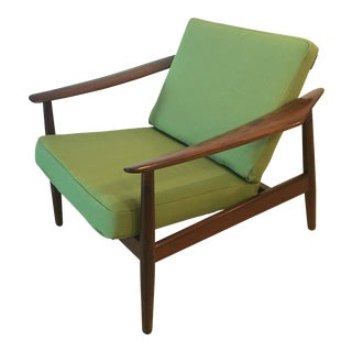 Vintage Mid Century Arne Vodder for John Stuart, France and Son Teak Lounge Chair For Sale