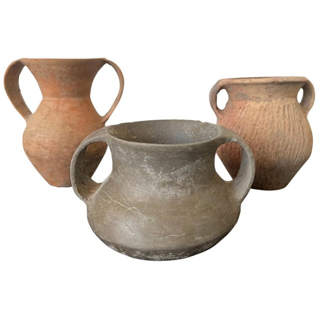 Chinese Neolithic Pottery - Set of 3 For Sale - Image 13 of 13