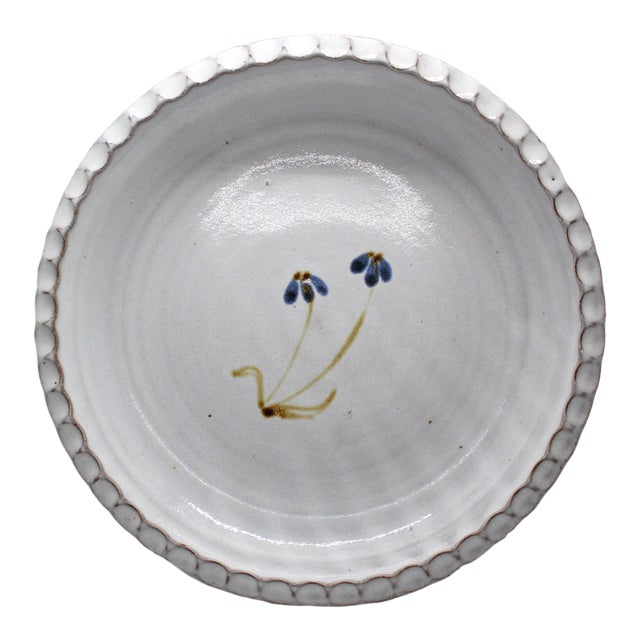 Hand-Made Pie Pan From Jugtown Ware For Sale