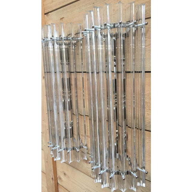 Vintage Contemporay Style Murano Glass Triedo Wall Sconces - a Pair For Sale In Columbus, GA - Image 6 of 12