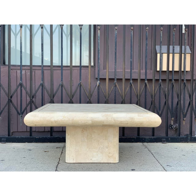 1970s Tessellated Stone Tile Coffee Table For Sale - Image 5 of 12