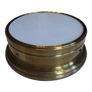 Visual Comfort Siena Hand Rubbed Brass Large Flush Mount For Sale