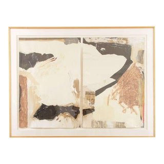 Mixed Media Abstract Collage Diptych By Eugene Sanders