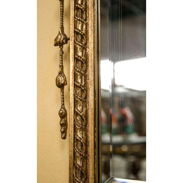 Adams Style Beveled Mirror in Finely Carved Frame For Sale - Image 10 of 11