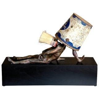 """Steven Michael Beck Bronze """"Periwinkle Blue"""" Sculpture, 2018 For Sale"""