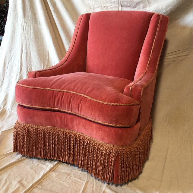 Traditional Vintage Council Furniture Down Wrap Chair For Sale - Image 3 of 9