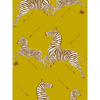 Sample, Scalamandre Zebras, Zanzibar Gold Wallpaper For Sale