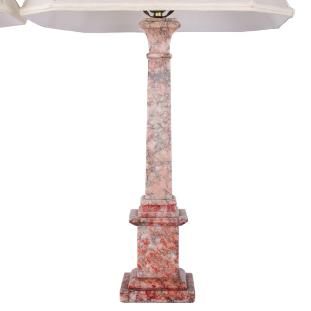 Grand Tour Marble Column Lamps - a Pair For Sale - Image 3 of 11