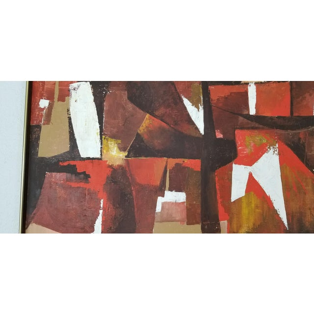 Canvas Mid-Century Acrylic on Canvas Painting by Palilo. For Sale - Image 7 of 13