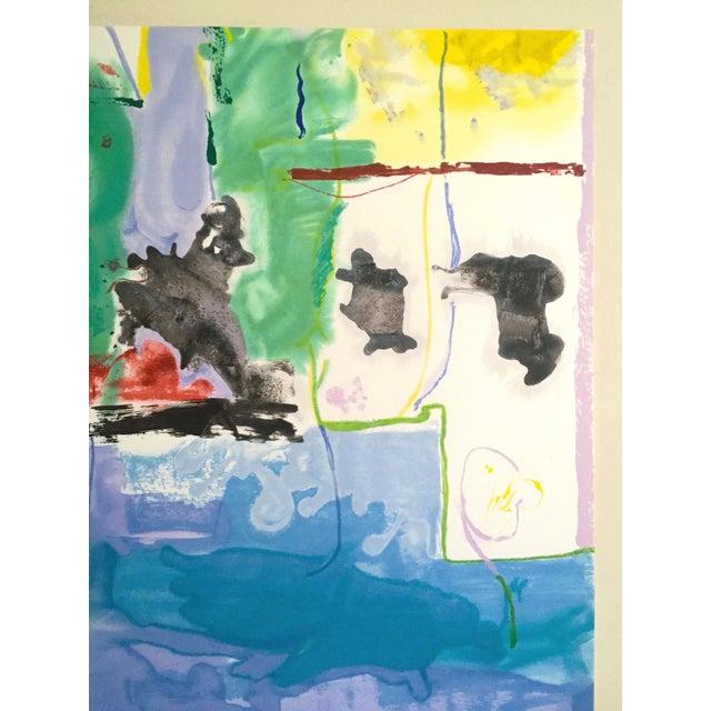 "1990s Helen Frankenthaler Rare Ltd Edtn Hand Pulled Original Silkscreen Print "" West Wind "" 1996 For Sale - Image 5 of 13"
