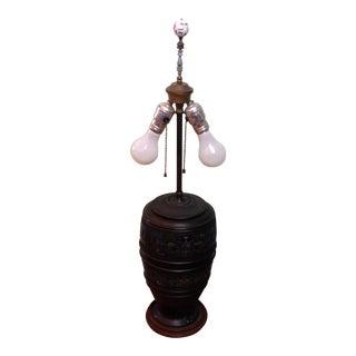 Vintage Colorful Enamel Table Lamp For Sale