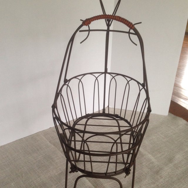 Metal Large Vintage Metal Deer Planter/Basket For Sale - Image 7 of 11