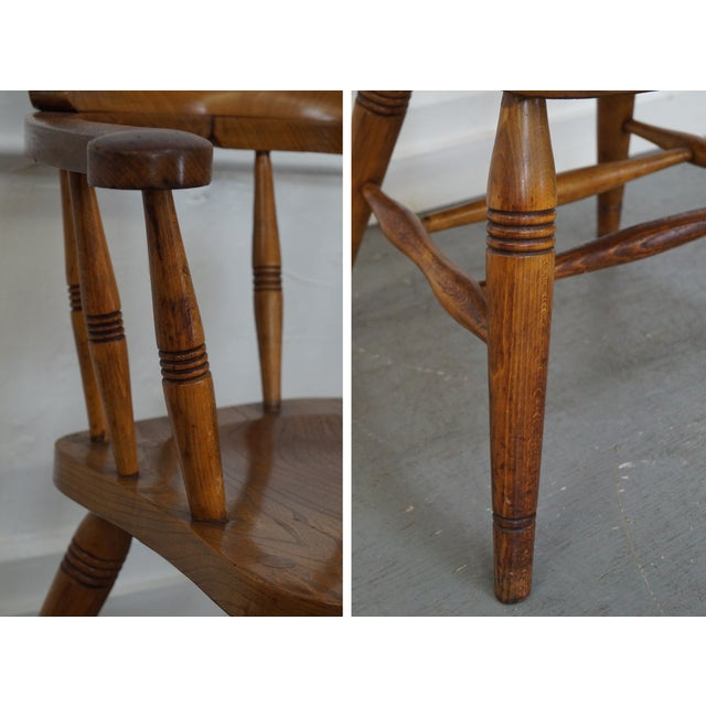 Antique English 19th Century Pub Chairs - Set of 4 For Sale In Philadelphia - Image 6 of 10