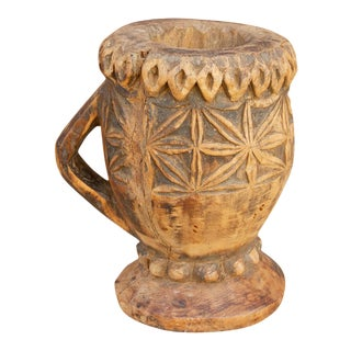 Bheel Tribal Spice Kharal Grinder Vase For Sale