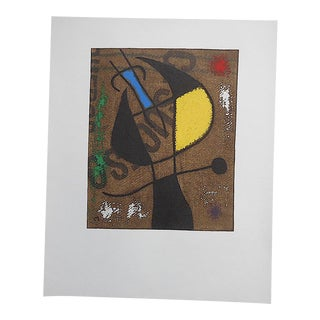 Rare Vintage Mid 20th C. Modern Abstract Ltd. Ed. Lithograph-Joan Miro-Signed-Elephant Folio Size-Paris For Sale