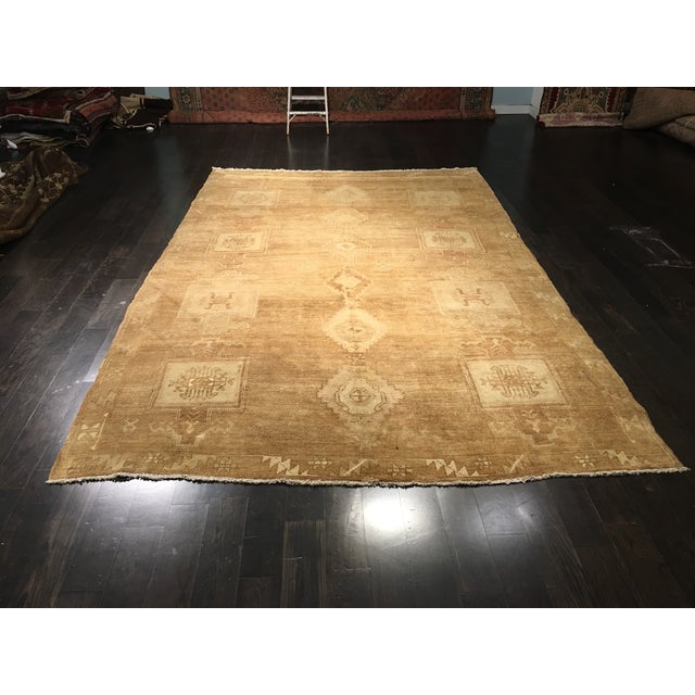 "Vintage Turkish Oushak Rug - 7'3"" x 11'4"". - Image 2 of 8"