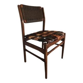 Torben Strandgaard Mid-Century Modern Teak Chair With Leather Seat For Sale