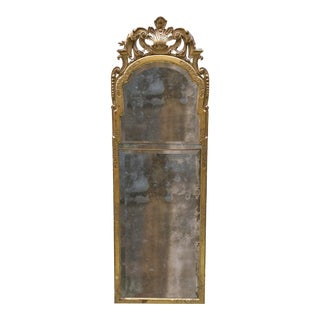 18th Century Carved Gilt Wood German Pier Mirror