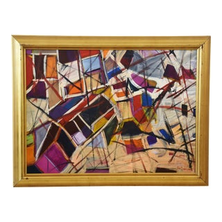 Vibrant Colorful Abstract Painting by Juan Pepe Guzman For Sale