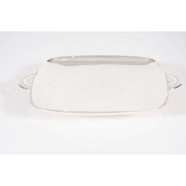 Dorlyn Silversmiths Tommi Parzinger for Dorlyn Silver Plate Serving Tray For Sale - Image 4 of 8