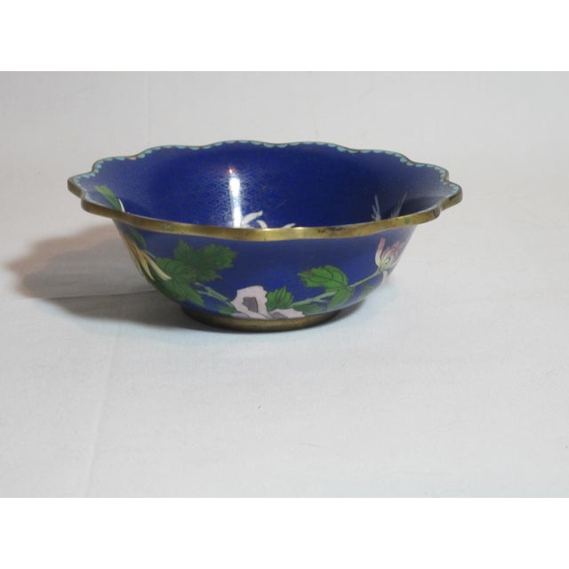 Scalloped Cloisonné Bowl - Image 4 of 6