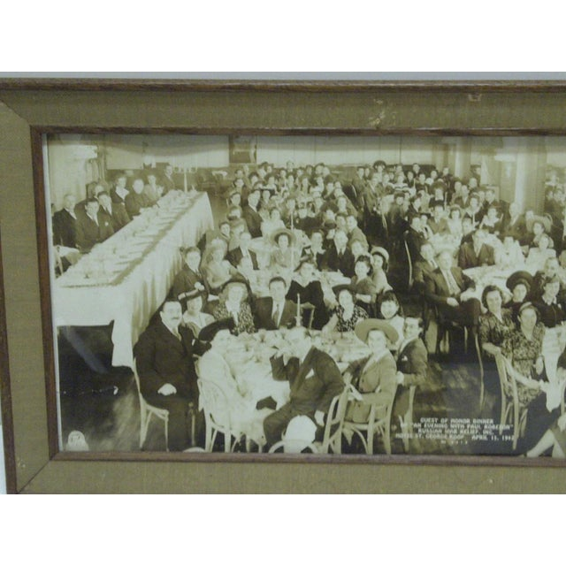 Americana 1942 Vintage Russian War Relief Dinner Photograph For Sale - Image 3 of 6