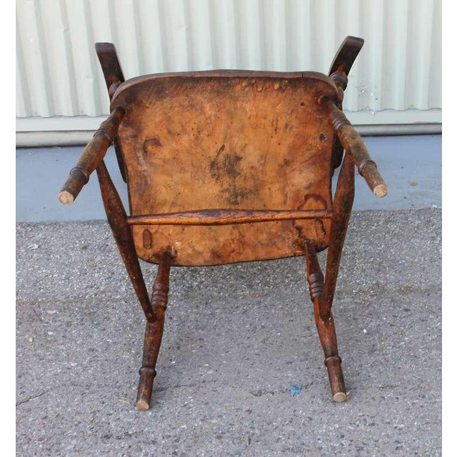Walnut 19thc English High Back Arm Chair For Sale - Image 7 of 8
