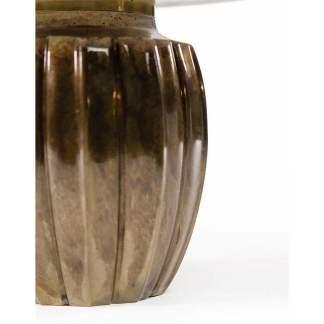 Asian Lawrence & Scott Ocha Table Lamp in Brass For Sale - Image 3 of 6