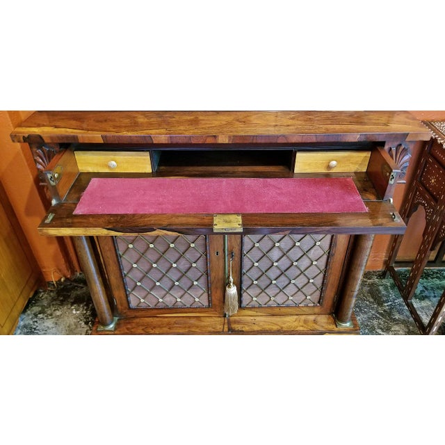 18c British Regency Bureau Secretaire Chiffonier in the Manner of Gillows For Sale - Image 12 of 13