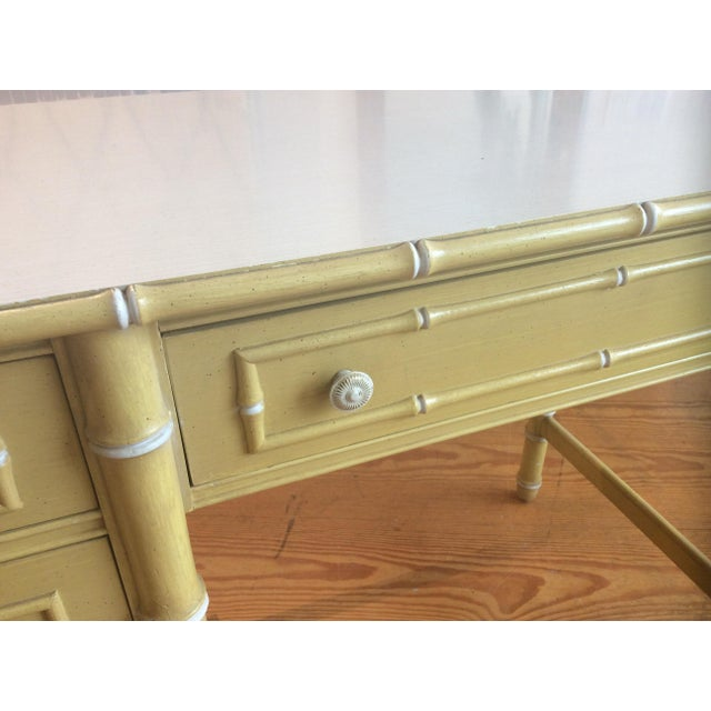 Thomasville Thomasville Vintage Faux Bamboo Desk For Sale - Image 4 of 9
