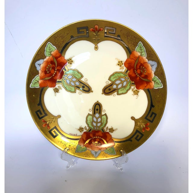 Pickard China Early 1900's Pickard Oriental Poppy Plate Signed a Richter For Sale - Image 4 of 4