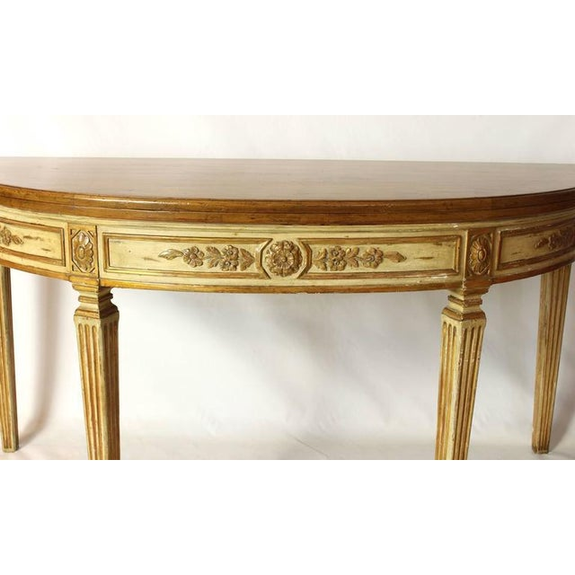 Neoclassical Folding Demilune Table For Sale In Richmond - Image 6 of 10