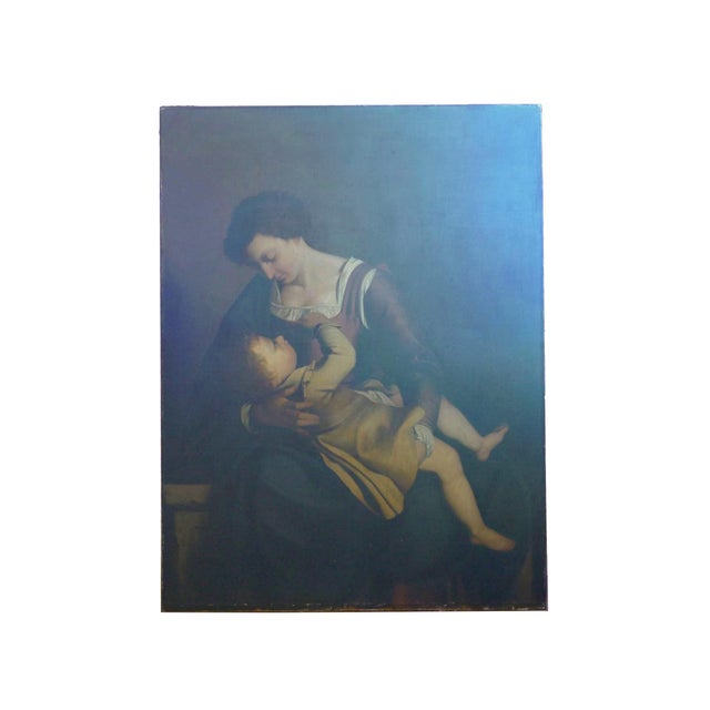 A well executed 19th century copy of the original masterpiece by Orazio Gentileschi (1593-1652) painted in 1609 and held...