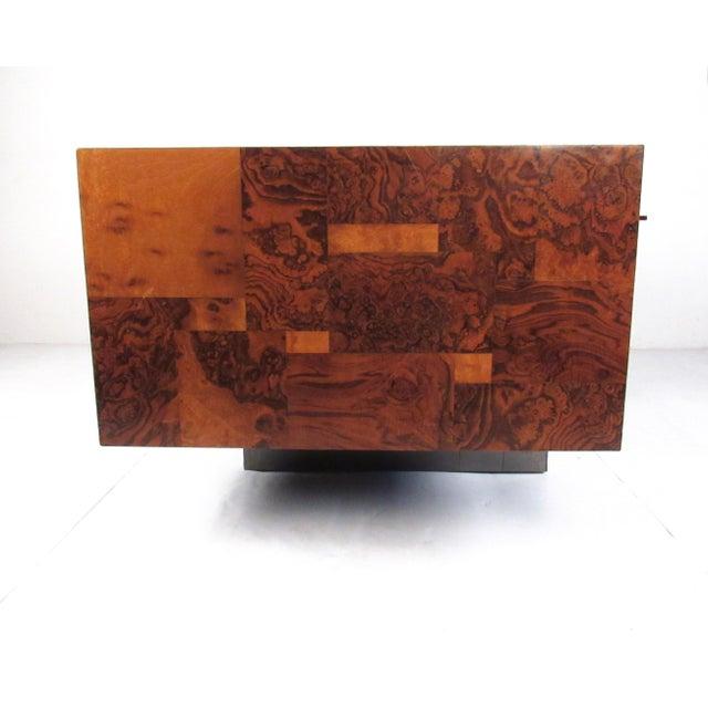 """1970s Paul Evans """"Cityscape"""" Burlwood Executive Desk For Sale - Image 5 of 13"""