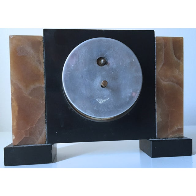 Antique French Art Deco Onyx Clock - Image 5 of 6