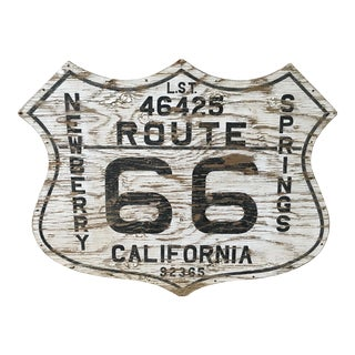 Route 66 Folk Art Sign For Sale