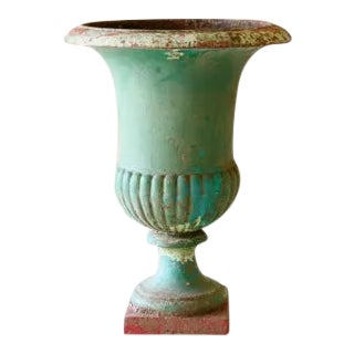 19th Century French Cast Iron Medici Urn For Sale