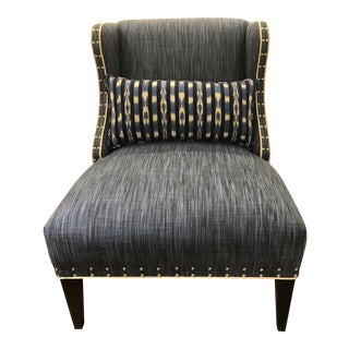Indigo Sutton Strie Weave Upholstered Slipper Chair