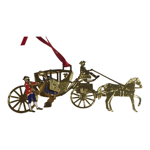 Horse & Carriage Christmas Tree Ornament For Sale