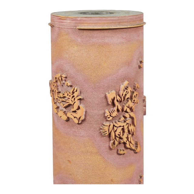 Textile Print Roll in Ceramic From Early 20th Century France For Sale