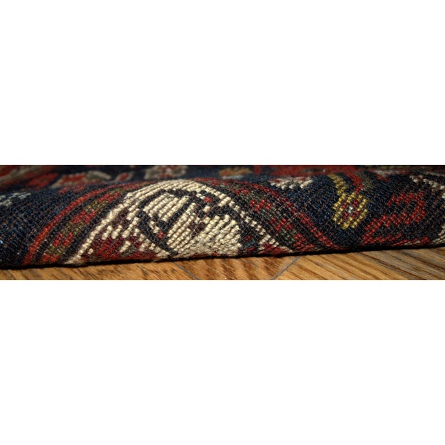 Textile 1870s Hand Made Antique Collectible Persian Khamseh Rug 6.4' X 9.9' For Sale - Image 7 of 10