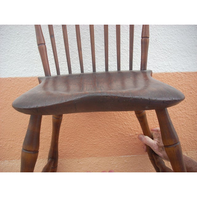 Primitive Windsor Chair For Sale - Image 5 of 7